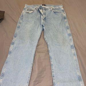 Wrangler light wash bootcut jeans